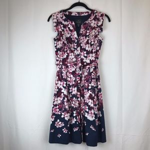 ADRIANNA PAPELL Floral Fit & Flare, Size 2 Dress
